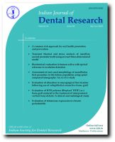 Indian Journal of Dental Research