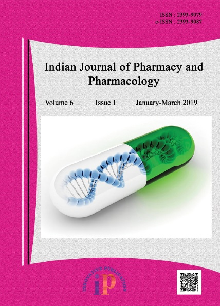 Indian Journal Of Pharmacy And Pharmacology