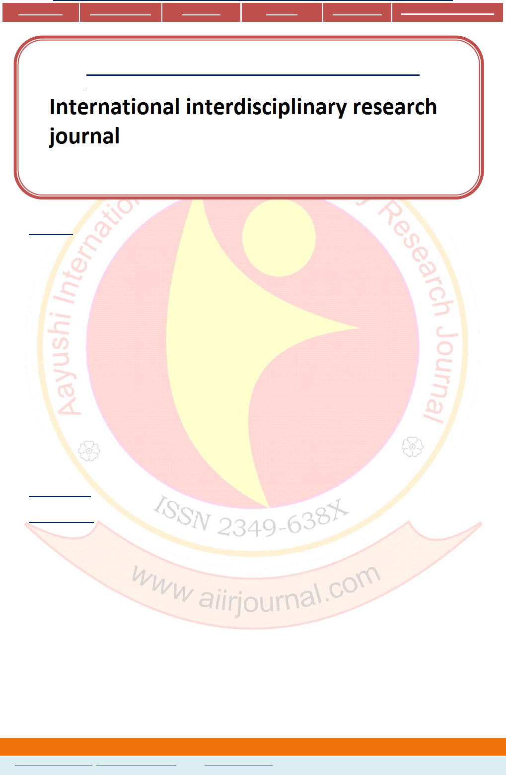 International interdisciplinary research journal