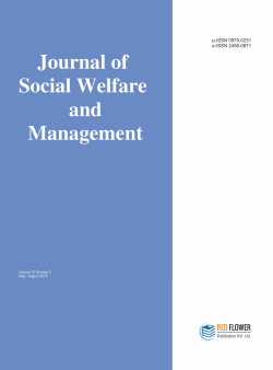 International Journal Of Social Welfare And Management