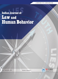 Indian Journal of Law and Human Behaviour