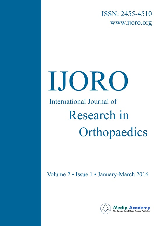 International Journal Of Research In Orthopaedics