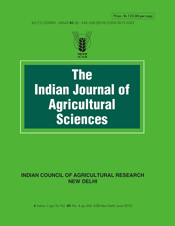 indian journal of agricultural sciences