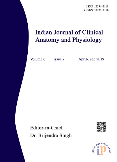 Indian Journal of Clinical Anatomy and Physiology