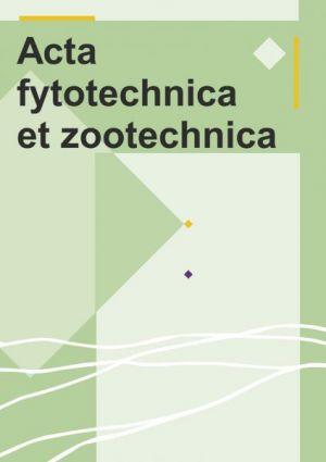 Acta Fytotechnica et Zootechnica