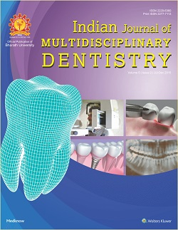 Indian Journal of Multidisciplinary Dentistry
