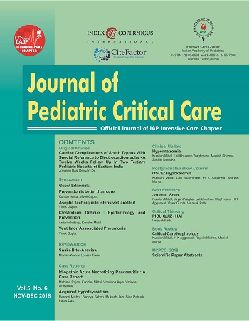 Journal Of Pediatric Critical Care