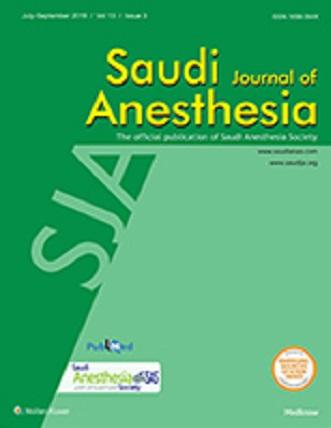 Saudi Journal of Anaesthesia