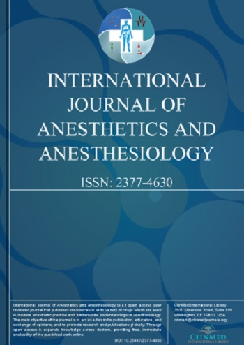 International Journal of Anesthetics and Anesthesiology