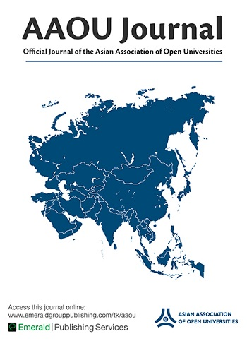 Asian Association of Open Universities Journal