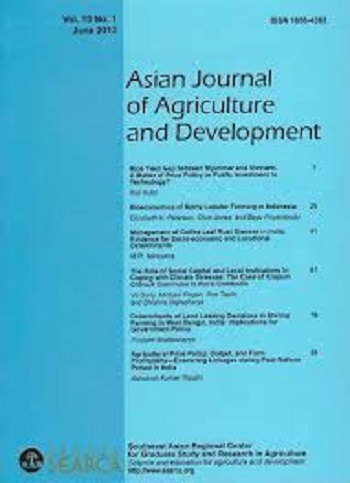 Asian Journal of Agriculture and Development