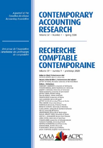 Contemporary accounting research