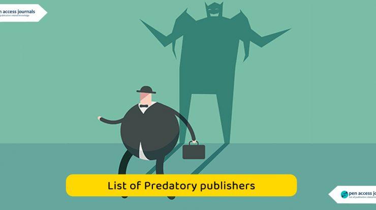 List of Predatory publishers