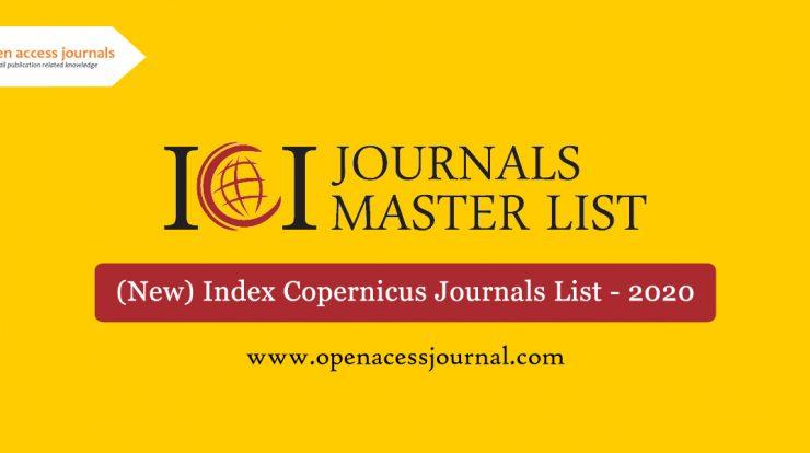 (New) Index Copernicus Journals List