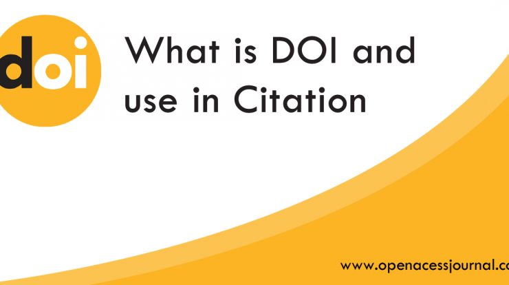 What is DOI and use in Citation