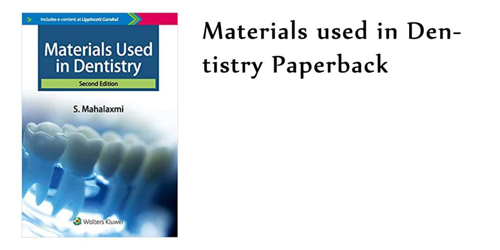 Materials used in Dentistry Paperback