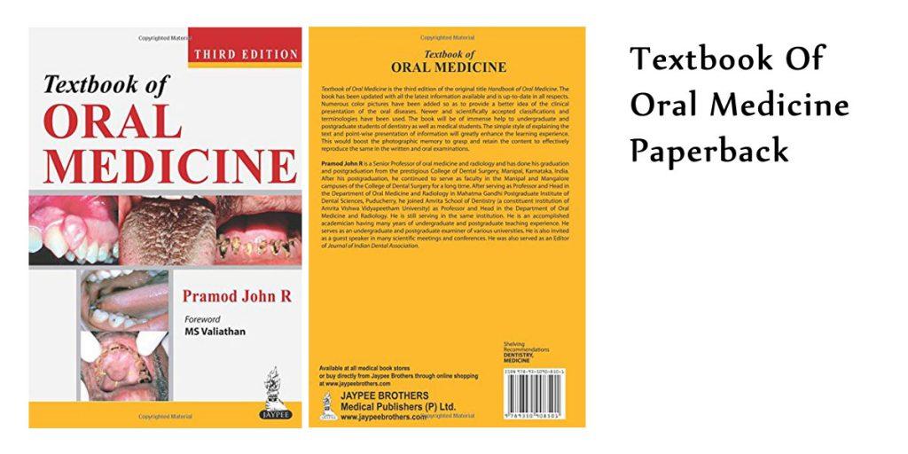 Textbook Of Oral Medicine Paperback