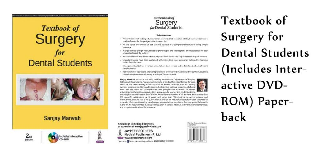 Textbook of Surgery for Dental Students (Includes Interactive DVD-ROM) Paperback